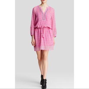 Joie Silk Dress Boho Suerte Palm Ikat